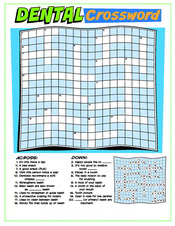 Dental Crossword activity sheet